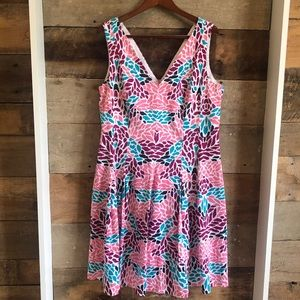 Like New! Anne Klein Floral Pleated Dress - 16